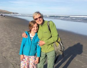 Anne with Sylvia at St Clair Beach, Dunedin