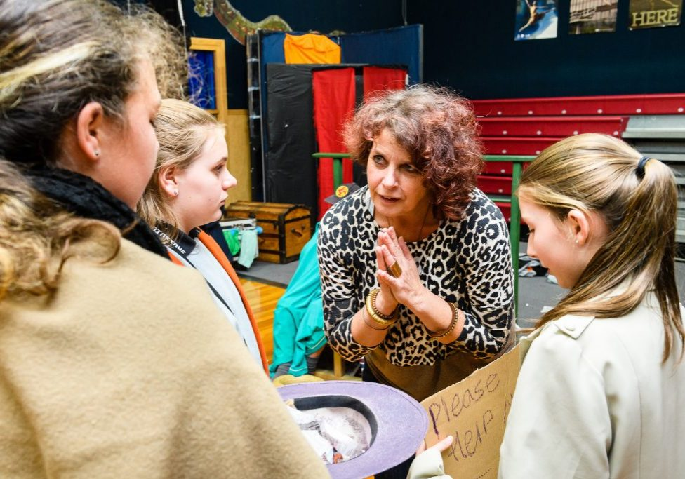 "NZEI. Maidstone Intermediate. Drama teacher Annette McRae and her year 8 students. Photo by Mark Coote/<a href=""http://markcoote.com"" rel=""nofollow"">markcoote.com</a>"