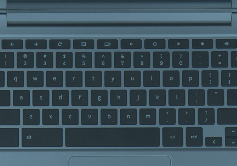 A Chromebook keyboard