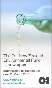The O-I New Zealand Environmental Fund is now open.