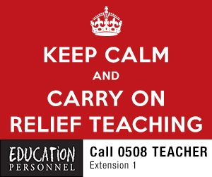 Keep calm and carry on relief teaching - call Education Personnel on 0508 TEACHER